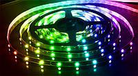 Світлодіодна стрічка «той, що Біжить вогонь» WS2811 RGB 5050 30LED/m ( IP65) авто без контролера, фото 1
