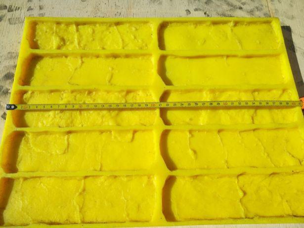 Полиуретановые силиконовые формы Кантри N1 для плитки гипсовой