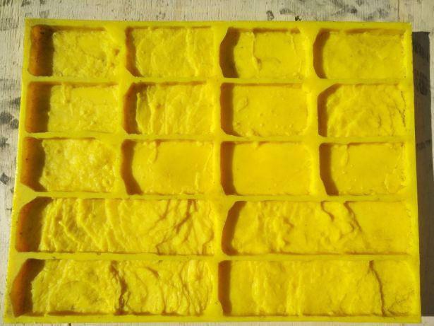 Полиуретановые силиконовые формы Кантри N2 для плитки гипсовой, фото 2