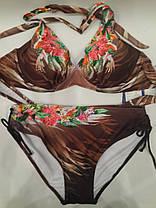 Купальник Цветы 18119 коричневый на наши 48  размер., фото 2