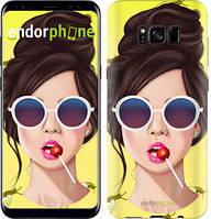 """Чехол на Samsung Galaxy S9 Девушка с чупа-чупсом """"3979c-1355-493"""""""