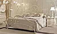 Кованая кровать К004 PERLAGE Реплика. Без изнозжья, с изножьем. Полуторная, двухспальная