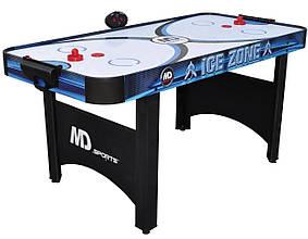 Аэрохоккей Ice Zone 2 в 1 с теннисной крышкой и электронным LED счетчиком - 168 х 81 х 80 см