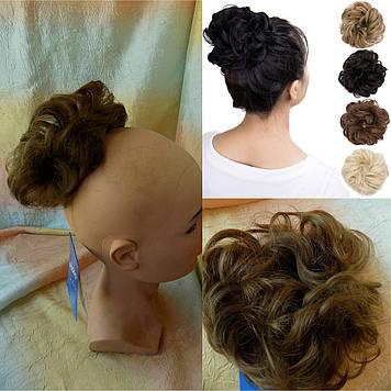 Резинка-шиньон из волос светло-русый 977-12