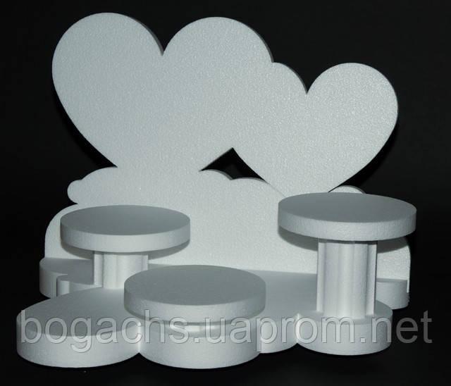 Подcтавка (разборная, основа) из пенопласта под торт 3 яруса