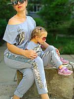 Легкий летний костюм мама дочка Family Look Фемили Лук