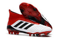 Футбольные бутсы adidas Predator 18+ FG White/Core Black/Real Coral, фото 1
