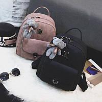 Женский рюкзак из эко-кожи на змейке.В комплекте РЮКЗАК + КЛАТЧ + КОШЕЛЁК + ВИЗИТНИЦА