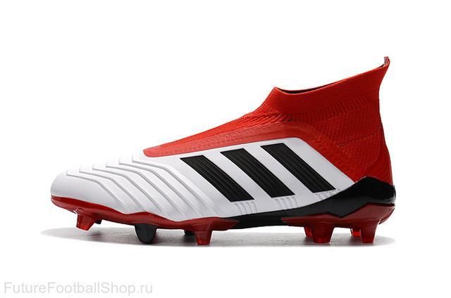 c3704b07d45b Футбольные бутсы adidas Predator 18+ FG White Core Black Real Coral ...
