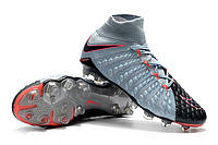 Футбольные бутсы Nike Hypervenom Phantom III DF FG Light Armory Blue/Armory Navy, фото 1