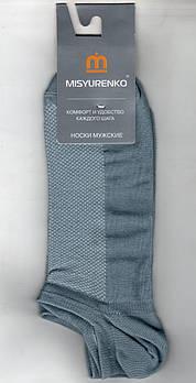 Шкарпетки чоловічі х/б з сіткою Місюренко, М11В113П, 29 розмір, короткі, світло-сірі, 02283