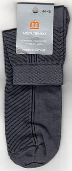 Шкарпетки чоловічі х/б з сіткою Місюренко, М11В111П, 27 розмір, середні, темно-сірі, 02291