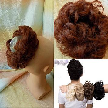 Резинка-шиньон из волос светло-каштанововый 977-31