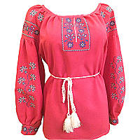 Вышиванка женская Авторская вышиванка 44 Красный (10574)