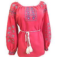 Вышиванка женская Авторская вышиванка 38 Красный (10571)