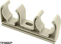 Крепление для полипропиленовых труб D 32 двойное SANICA (серое)