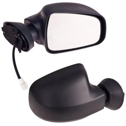 Зеркало боковое YH-3394A Renault Logan черное/эл.привод