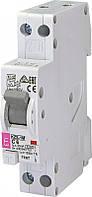 Дифференциальный автоматический выключатель   KZS-1M C 6/0,01 тип A 6kA (нижн подключ.)