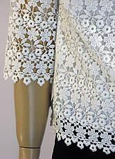 Блузка біла шифонова з мереживом Fi-ha-ha, фото 3