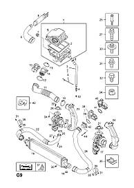 Прокладка впускной трубки интеркулера к турбине GM 13261976 Z17DT A17DTI A17DTC A17DTS OPEL Astra-H/J
