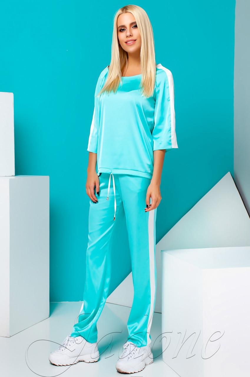 8d2e44a190d0 Женский бирюзовый костюм Камелия TM Jadone Fashion 42-48 размеры ...