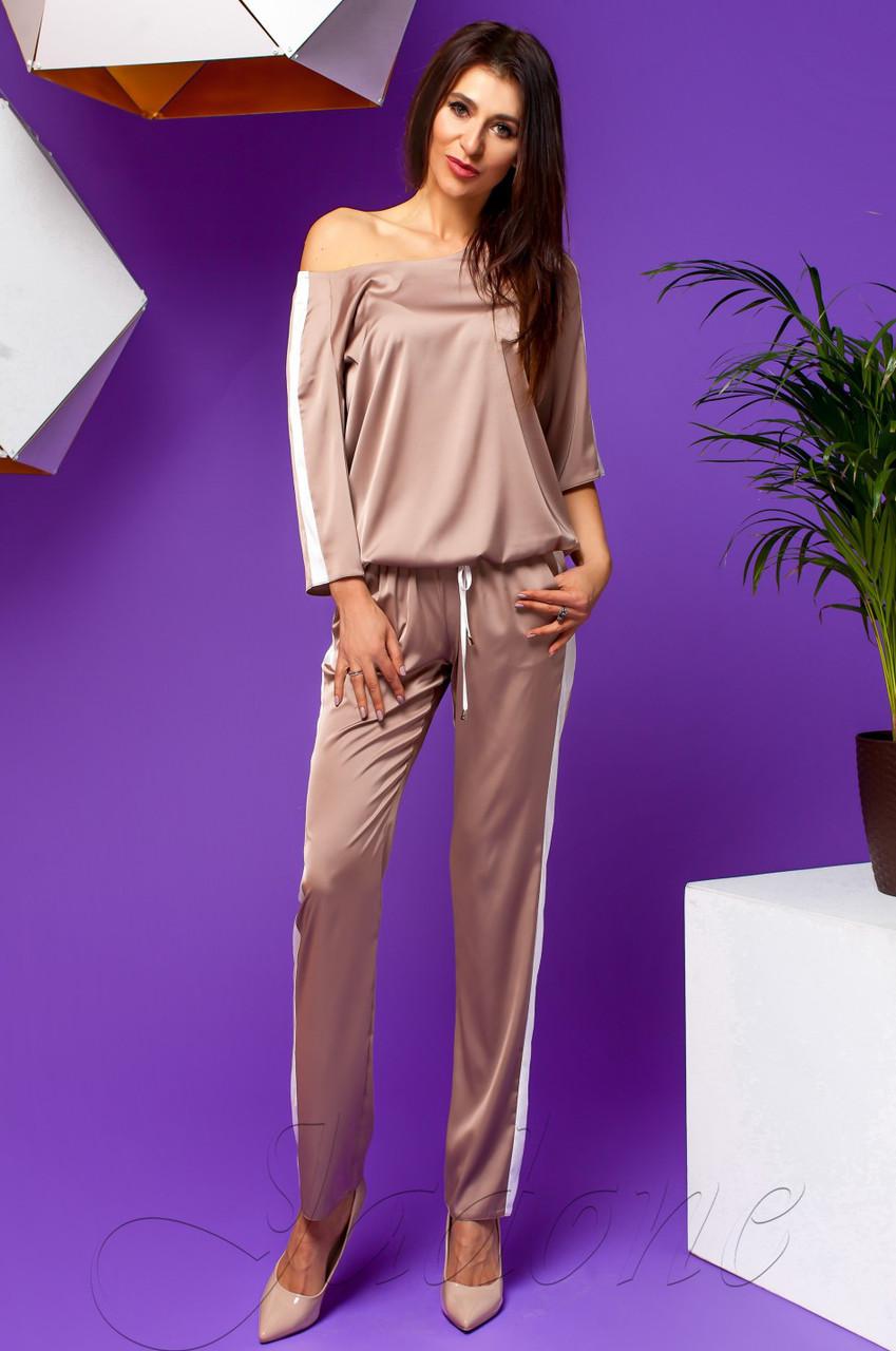 46e8bb2bf715 Женский бежевый костюм Камелия TM Jadone Fashion 42-48 размеры -  Интернет-магазин одежды