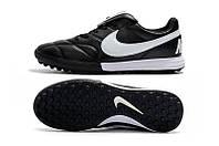 Футбольные сороконожки Nike Premier II TF Black/White/Black, фото 1