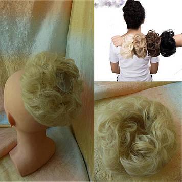 Резинка-шиньон из волос пепельный блонд 977- 26
