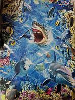 """Набор  3D ковриков  """"подводный мир""""для ванной комнаты 2/1"""