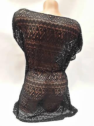 Платье пляжное Келли 1794 черное на наши 48-52 размеры., фото 2