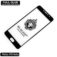Защитное стекло Full Glue Meizu M3 Note (Black) - 2.5D Полная поклейка, фото 1