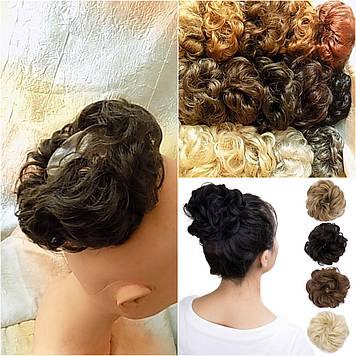 Резинка-шиньон из волос русый 977- 8