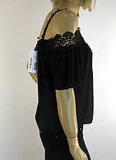 Блузка шифонова з відкритими плечами і мереживом Fi-ha-ha, фото 3
