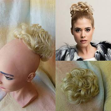 Резинка-шиньон из волос  блонд 977-613