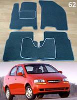 Коврики на Chevrolet Aveo '04-06 SDN/HB T200. Текстильные автоковрики