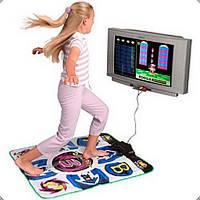 Музичний Килимок для танцю DANCE MAT 0196 USB, 95х85х0,8см, неслизький килимок, 4 кліпси, музичний килимок 0196