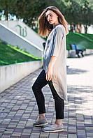 5b302ddf8c9 Нарядная блузка серебристого цвета с удлиненной спинкой