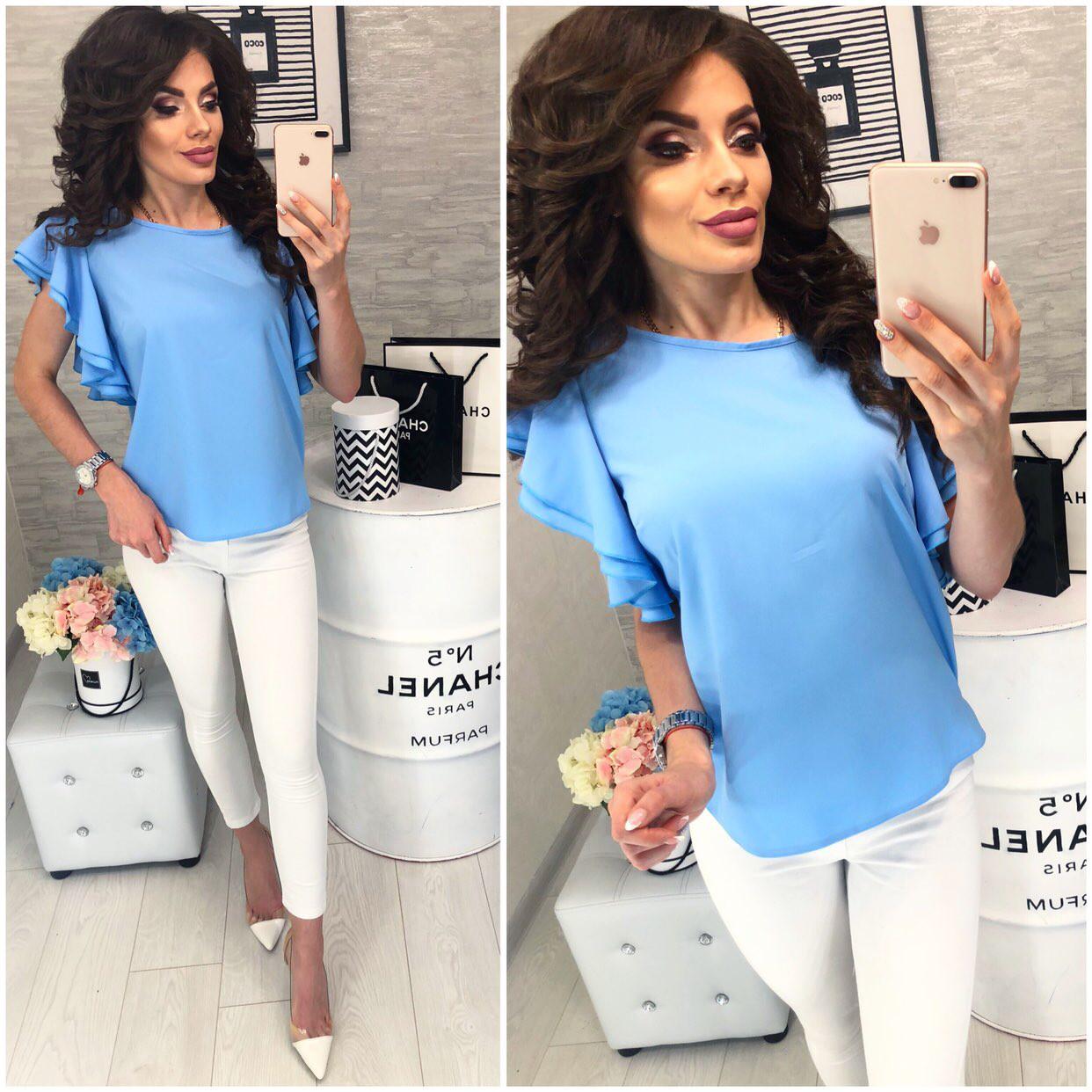 Блузка нарядная, модель 902, голубой