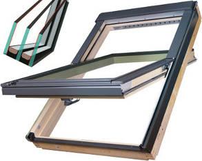 Двухкамерное мансардное окно Fakro FTS-V U4 Двухкамерные кровельные окна Факро аргон