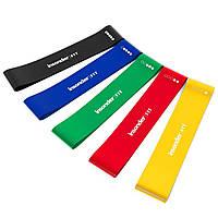 Эспандеры ленточные, Фитнес резинки (5 шт.+ чехол), Ленты сопротивления, резинки для фитнеса