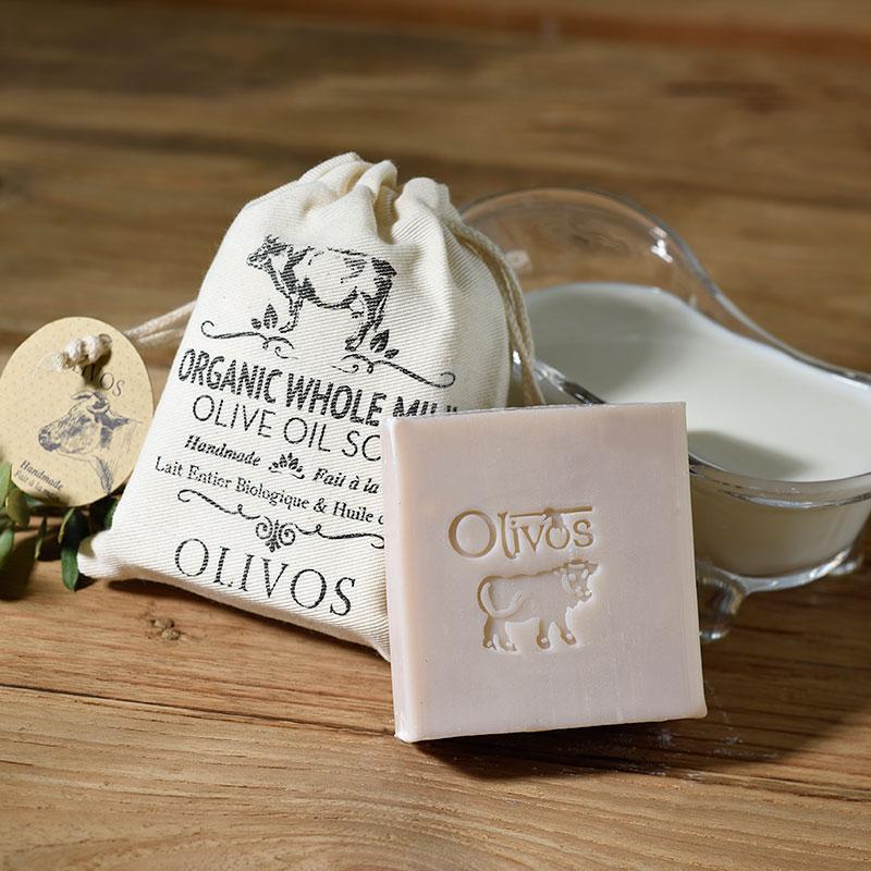 Оливкова натуральне мило з органічним цільним молоком Olivos Organic Whole Milk .150г