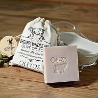 Оливкова натуральне мило з органічним цільним молоком Olivos Organic Whole Milk .150г, фото 1