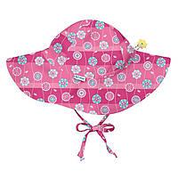 I Play - Солнцезащитная панамка Hot Pink Stripe Flower, 0-6 месяцев