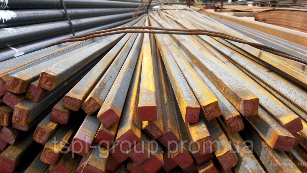Калібрований квадрат 16х16 мм, сталь 45 h11,