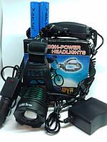 Налобный фонарь Bailong BL-2188-T6 сверхяркий на двух аккумуляторах типа 18650
