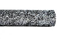 Графит (темное серебро) ткань с крупным глиттером (блестками) искусственная кожа (кожзам) 20x25 см , фото 1