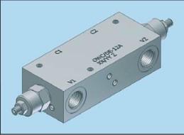 Клапаны типа overcenter с гидравлическим управлением Hydropnevmotechnika OWC/DE-12A
