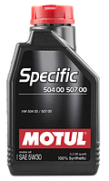 Моторное масло Motul Specific 504.00-507.00 5W-30 5л