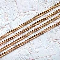 Цепочка мелкая Z09-3,цвет светлое золото