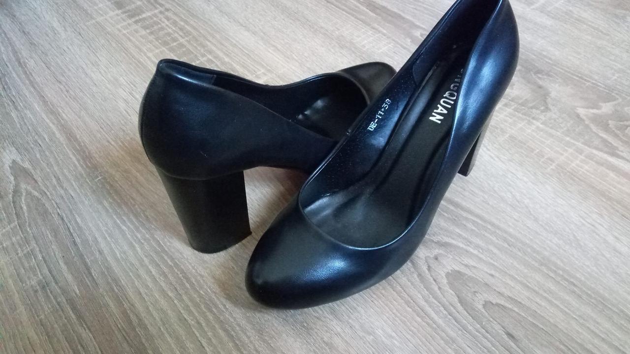 Туфли Hongquan D9-11 черная кожа